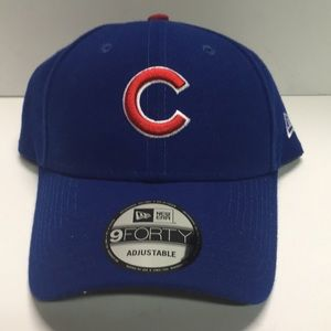 Chicago cubs new era blue strap back dad hat